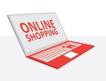 Het winkelen online illustratie stock illustratie