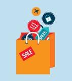Het winkelen ontwerp Royalty-vrije Stock Afbeeldingen