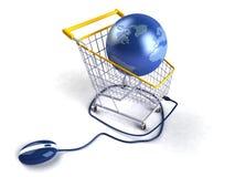 Het winkelen op Internet Stock Foto's