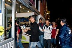 Het winkelen op Zwarte Vrijdag stock afbeelding
