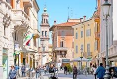 Het winkelen in Parma Stock Foto