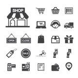 Het winkelen pictogram Royalty-vrije Stock Fotografie