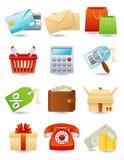 Het winkelen pictogram Royalty-vrije Stock Foto's