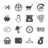 Het winkelen pictogrammen Royalty-vrije Stock Afbeeldingen
