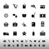 Het winkelen pictogrammen op witte achtergrond Royalty-vrije Stock Afbeelding