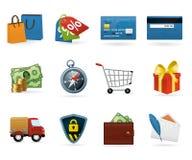 Het winkelen pictogramReeks Stock Afbeeldingen