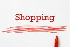 Het winkelen rubriek royalty-vrije stock foto