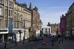 Het winkelen in Schotland stock foto's