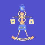 Het winkelen shiva Stock Fotografie
