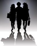 Het winkelen silhouet Stock Fotografie