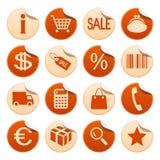 Het winkelen stickers Stock Fotografie