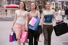 Het winkelen straat Stock Fotografie