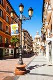 Het winkelen straat en Cathedra. Zaragoza Royalty-vrije Stock Afbeelding
