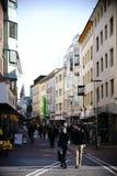 Het winkelen straat Mainz Royalty-vrije Stock Afbeeldingen