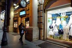 Het winkelen straat in Rome Royalty-vrije Stock Foto