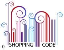 Het winkelen Streepjescode Stock Foto's