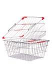 Het winkelen supermarktkarretje Stock Foto's