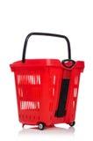 Het winkelen supermarktkarretje Royalty-vrije Stock Afbeeldingen