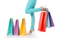 Het winkelen tijdconcept Stock Afbeeldingen