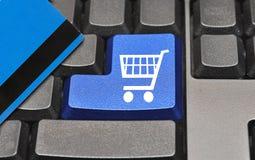Het winkelen toetsenbord Stock Foto