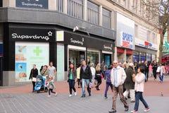 Het winkelen van Birmingham stock afbeeldingen