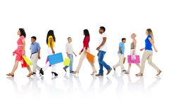 Het winkelen van de Aankoop Kleinhandelsklant Verkoopconcept Van de consument Stock Foto's