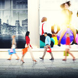 Het winkelen van de Aankoop Kleinhandelsklant Verkoopconcept Van de consument stock afbeeldingen
