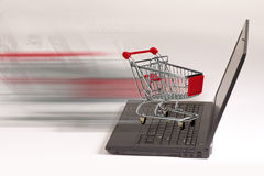 Het winkelen van de elektronische handel concept Stock Foto's