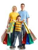 Het winkelen van de familie Royalty-vrije Stock Fotografie
