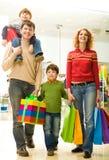 Het winkelen van de familie Royalty-vrije Stock Afbeelding