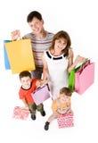 Het winkelen van de familie Stock Afbeelding