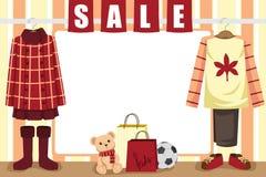 Het winkelen van de herfst achtergrond Stock Afbeelding