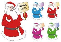 Het Winkelen van de Kerstman stock illustratie