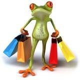 Het winkelen van de kikker Royalty-vrije Stock Foto's