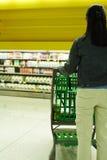 Het winkelen van de kruidenierswinkel Stock Foto's