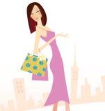 Het winkelen van de lente royalty-vrije illustratie