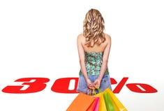Het winkelen van de verkoop Stock Foto