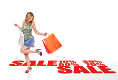 Het winkelen van de verkoop Royalty-vrije Stock Afbeeldingen