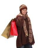 Het winkelen van de vrouw royalty-vrije stock afbeeldingen