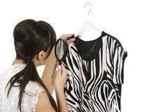 Het winkelen van de vrouw Stock Foto's