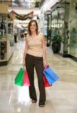 Het Winkelen van de vrouw stock foto