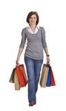Het winkelen van de vrouw Royalty-vrije Stock Foto