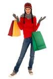 Het winkelen van de winter Royalty-vrije Stock Afbeeldingen