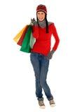 Het winkelen van de winter Stock Afbeelding