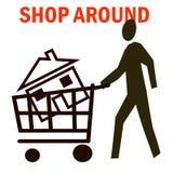 Het winkelen van het huis Stock Foto