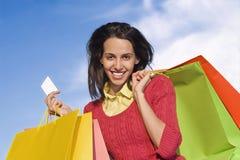 Het winkelen van het meisje Stock Fotografie