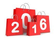Het winkelen van het nieuwjaar Stock Fotografie