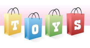 Het winkelen van het speelgoed zakken royalty-vrije illustratie