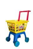Het winkelen van het stuk speelgoed blokkenwagen royalty-vrije stock foto's