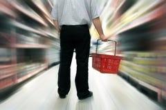 Het winkelen van het voedsel Stock Foto's